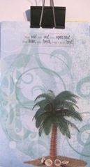 pamphlet book 3 hole blue w palm tree cover