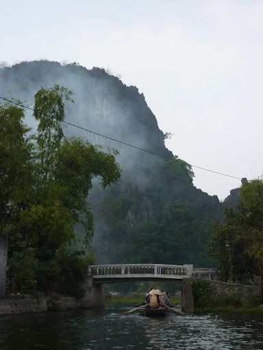 Off we set into the limestone hills of Tam Coc!