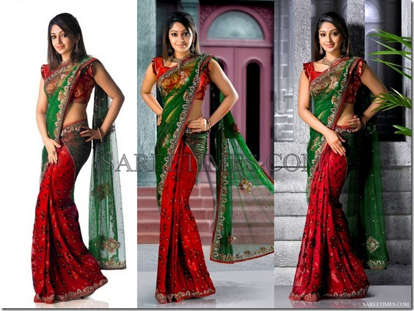 Green_Red_Half_and_Half_Saree