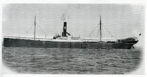 Vapor CABO BLANCO. 1909. Foto del libro LA INDUSTRIA NAVAL VIZCAINA