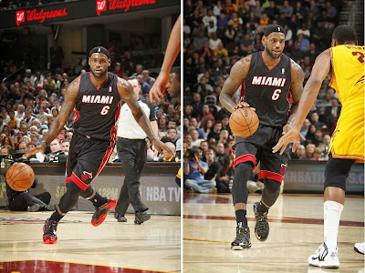 lebron james nba 131127 mia at cle 00 LBJ Wears Away 11s and... Goes Back to Elite 10s, Again!