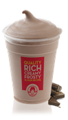 Large Chocolate Frosty at Wendys