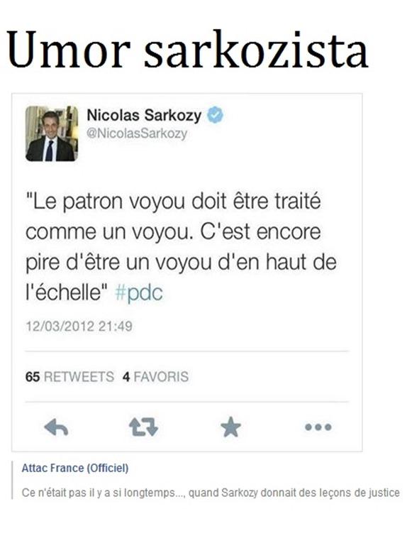 Sarkozy e auto-umorista
