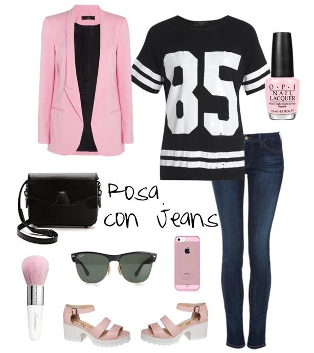 Rosa con Jeans