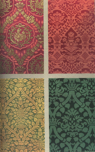 Italian silks from the 16th century. The damasks are just divine.