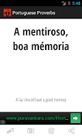 Screenshot of Portuguese Proverbs