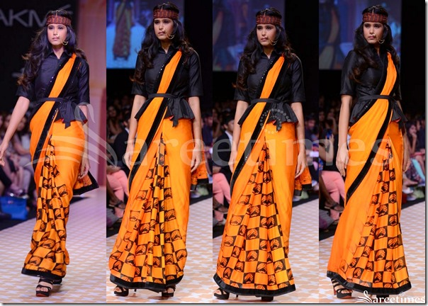 Archana_Kochhar_Orange_Saree