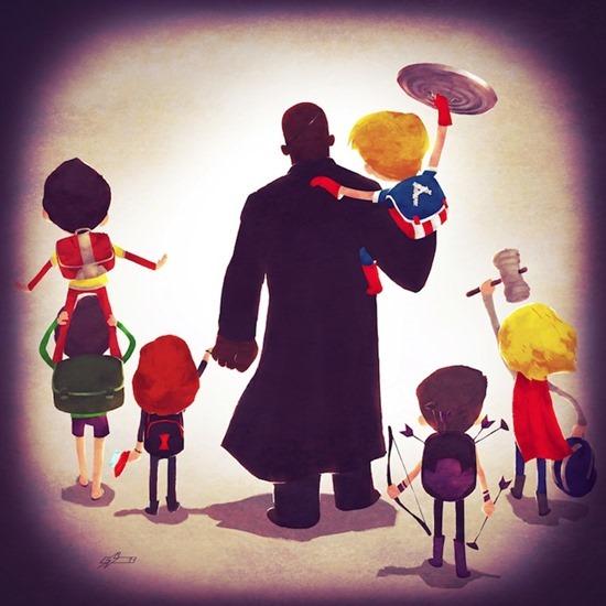 Super heróis em família 10