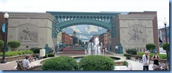 3784 Ohio - Bucyrus, OH - Lincoln Highway (State Routes 4 & 98)(Sandusky Ave) - 'Great American Crossroads' mural Stitch