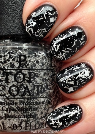 OPI I'll Tinsel You In (over black)