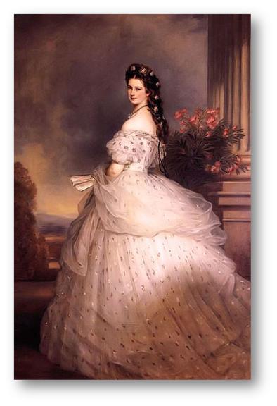 Elisabeth retrato oficial,1864 Franz Xavier Winterhalter