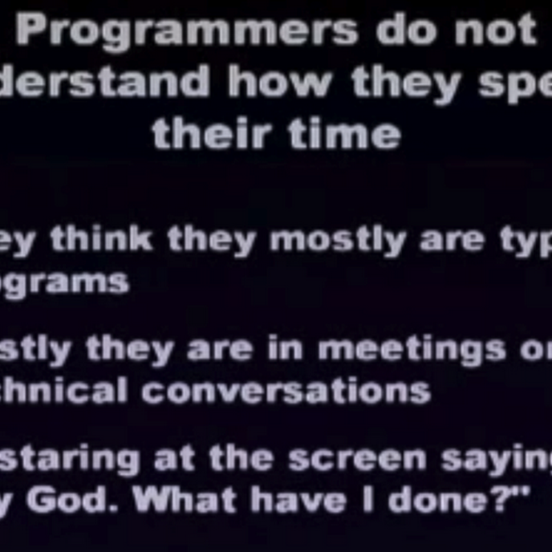 Tidbit: How programmers spend their time