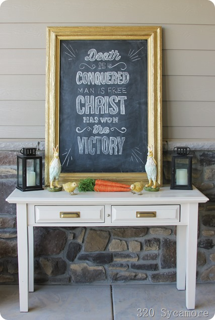 easter chalkboard decor