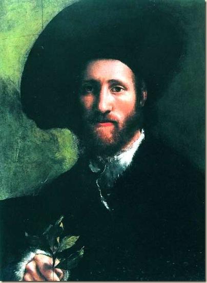 Camillo Boccaccino, Portrait d'homme avec un rameau de laurier