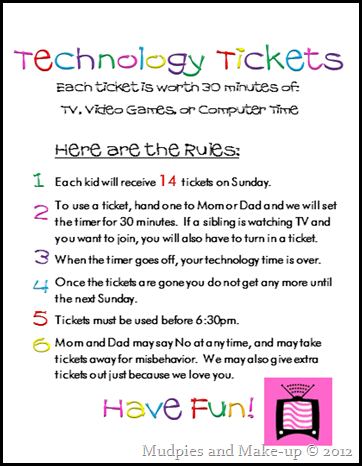 photo relating to Printable Technology named Mudpies and Deliver-up: Technologies Tickets and No cost Printables