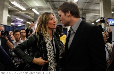 'Gisele Bundchen & Tom Brady' photo (c) 2012, Zennie Abraham - license: http://creativecommons.org/licenses/by-nd/2.0/