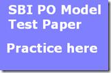 SBI PO Model Test Paper