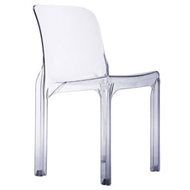 Heller reissue of Selene chair, transparent