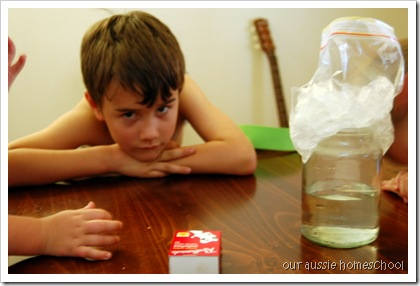Clouds in a Jar ~ Our Aussie Homeschool