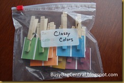 Classy Colors busy bag
