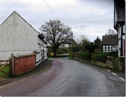 looking down the lane in marbury passed the old factory to teh lake