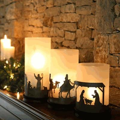 Presépios criativos - presépio de velas
