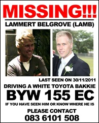 BELGROVE LAMMERT MISSING EL DEC12011