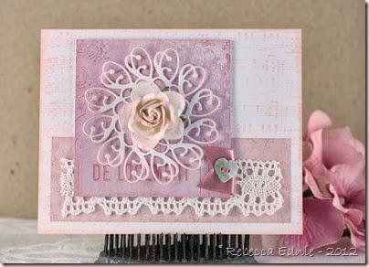 pink rose flourish