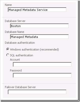 Configuring the Managed Metadata Service Application in SharePoint 2010 step by step - Part 1