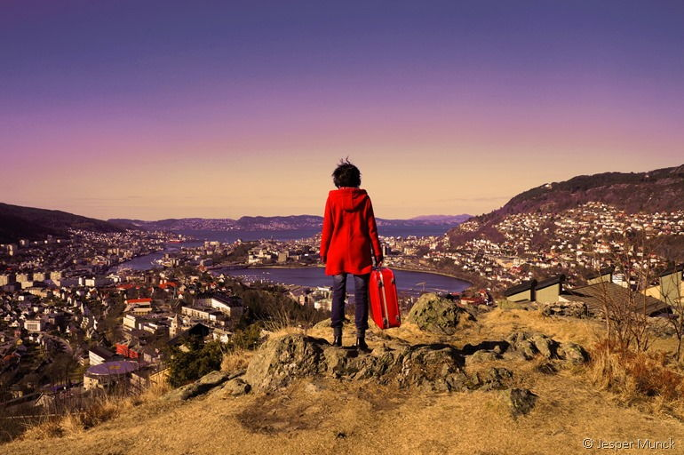 Blick auf Bergen vom YHA Hostel aus - Bild von Jesper Munck