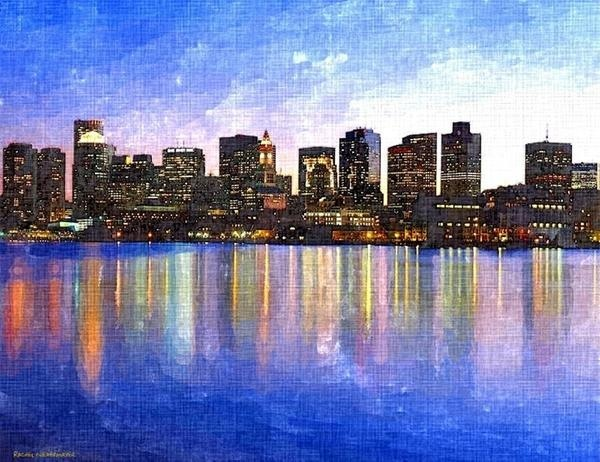 boston-skyline-by-night-rachel-niedermayer