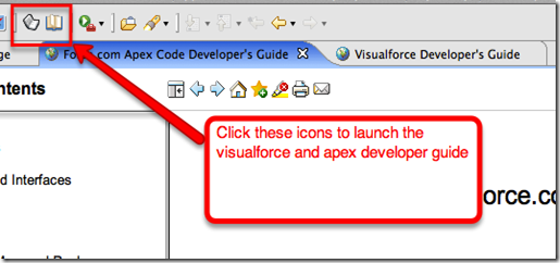 toolbar icons to launch apex & visualforce developer guides in eclipse