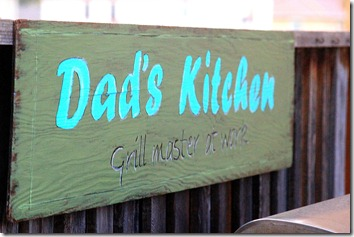 Dads kitchen sign