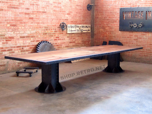 Vintage Industrial I Beam Conference Table