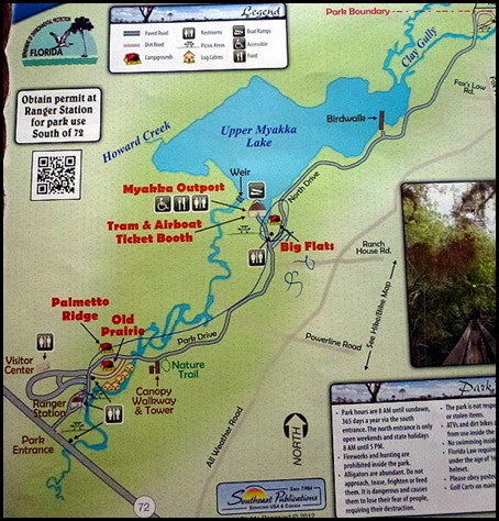 00b - Myakka River SP Map