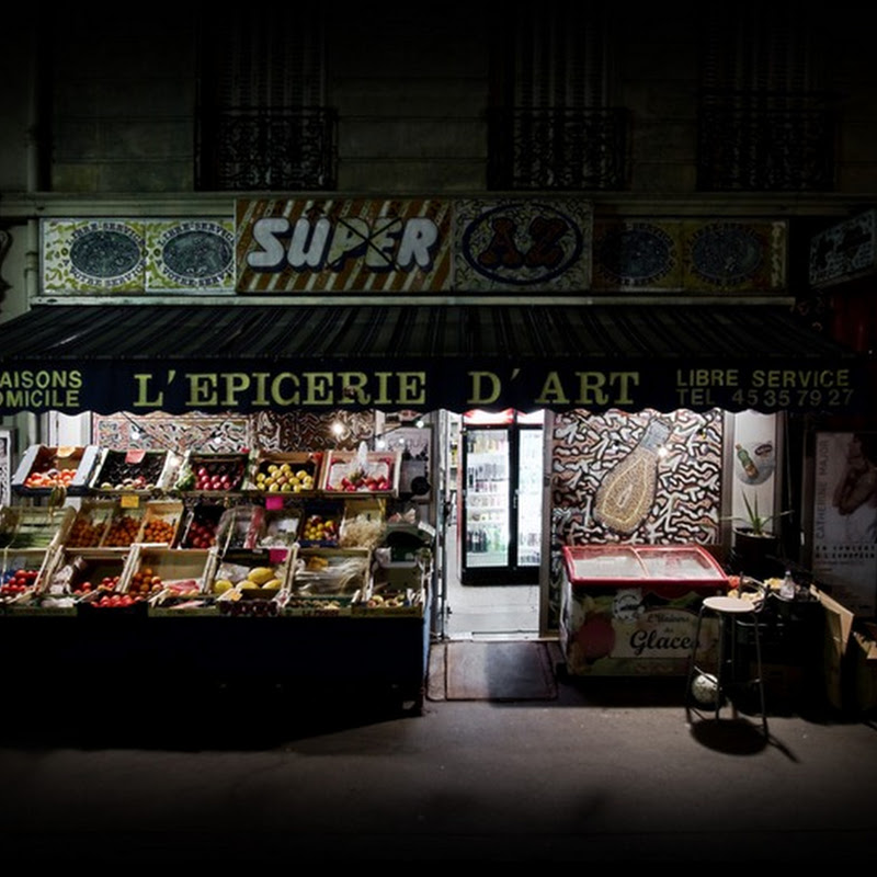 Grocery Stores at Night by Richard Vantielcke