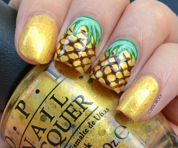 OPI - Pineapples Have Peelings Too! Swatch Review Pineapple Nail Art