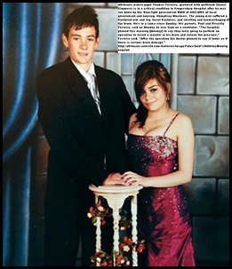 Ferreira Thomas and girlfriend Chanel Kloppers HE WAS RUN DOWN BY MEC GOVT CAR NOV2011 AND LEFT IN COMA