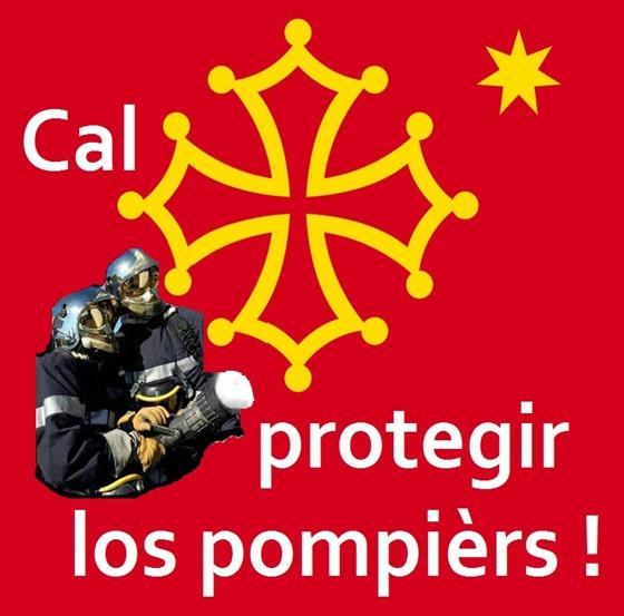 bandièra occitana protegir los pompièrs