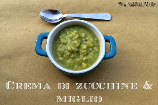 ricetta crema di zucchine e miglio