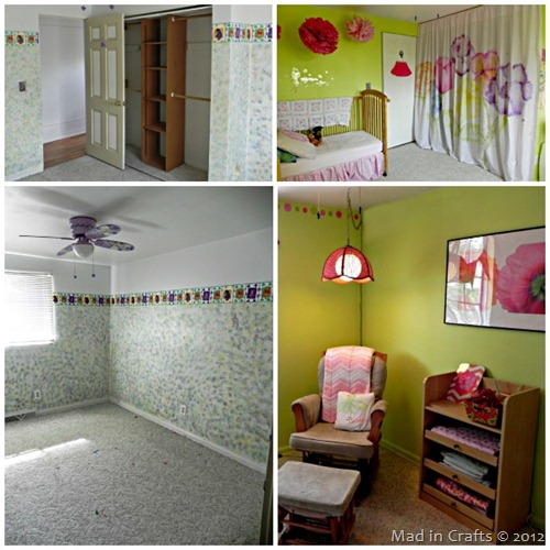 Daughters Room Before and After