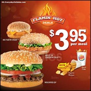 Burger King New $3.95 Combo Meals 2013 Discounts Offer Shopping EverydayOnSales