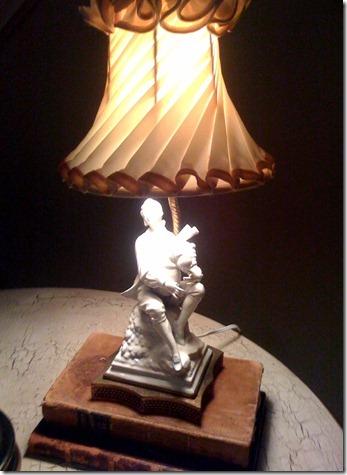 bagpiper lamp.