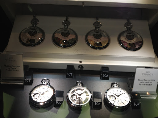 More pocket watches, these are from Tissot.