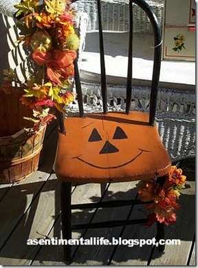sentimental life halloween chair