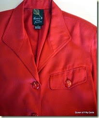 Red silk jacket