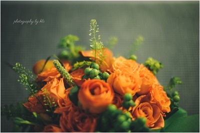 Orange Wedding Flowers Ideas in Bloom Photography by KLC
