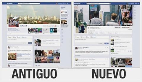 Cambios de diseño en Facebook