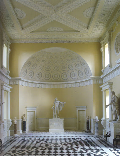 This image captures the other view of the Great Hall that Adam designed, inspired by the work of Piranesi.