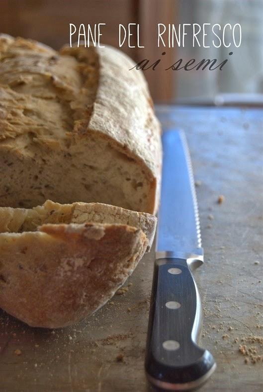 pane del rinfresco con i semi